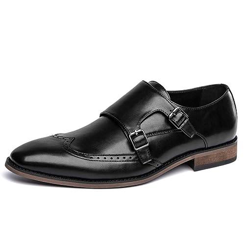 Amazon.com: Zapatos de vestir Oxford con correa tipo monje ...