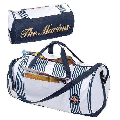 Elegante e grande borsa borsone sportivo palestra firmato the marina con tracolla regolabile