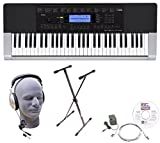 Casio Inc. CTK4400 EPA 61-Key Premium Keyboard Package with Headphones, Stand, Power Supply, 6-Foot USB Cable and eMedia Instructional Software