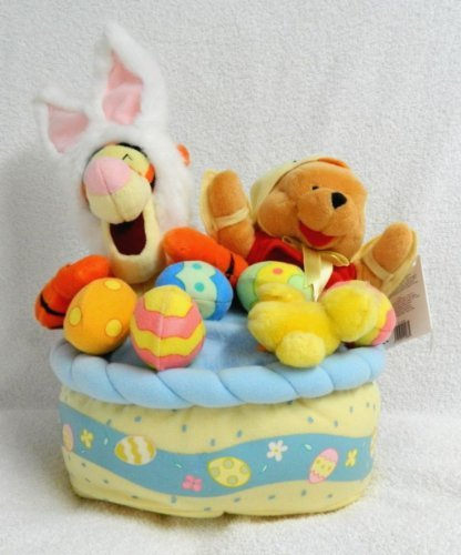 Winnie the Pooh DISNEY MUSICAL EASTER BASKET PLUSH  Teddy Bears
