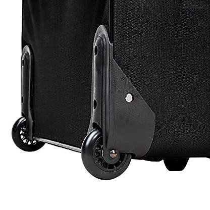TecTake Conjunto de 4 maletas de viaje juego de maleta blanda bolsa trolley con ruedas negro