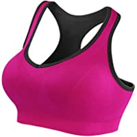 J. Village Women Racerback Sports Bra - High Impact Workout Yoga Gym