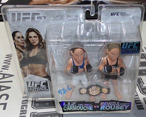 Liz Carmouche w/ Ronda Rousey Signed UFC 157 Round 5 Action Figure Auto - PSA/DNA Certified - Autographed UFC Miscellaneous Products (Signed Action Figures)