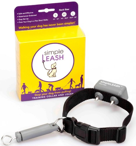 simpleLEASH – A No Pull Training Simple Leash and Collar, Medium (16″ to 18.5″), My Pet Supplies