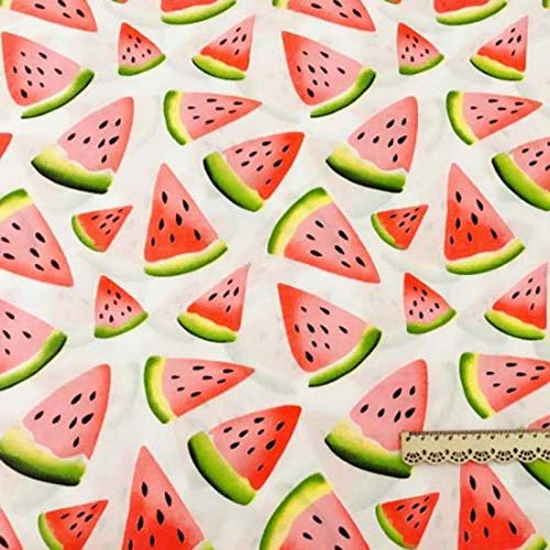 Cell's world - 160CM50CM Cotton Cloth Fruit red Watermelon Pink dots Solid Brick Pink Fabric for DIY Crib Bedding Cushion Dress Handwork Decor