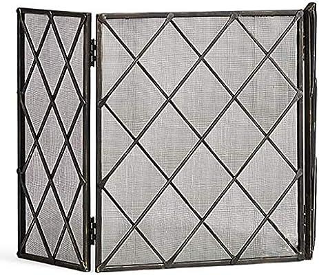 Salvachispas Chimenea Pantalla de Chimenea de 3 Paneles para Chimenea de Estufa de Gas/Estufa de