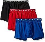 Hugo Boss BOSS Men's 3-Pack Cotton Trunk, New Red/Blue/Black, X-Large