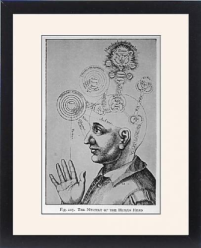 Framed Print Of Paranormal/phrenology by Prints Prints Prints