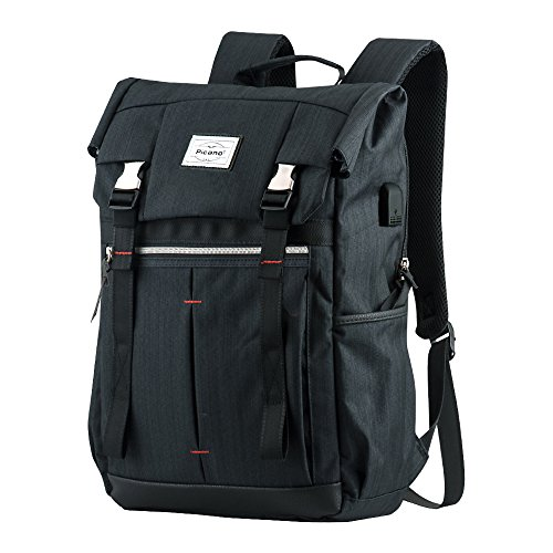 """Business Laptop Backpack, P.KU.VDSL Picano Series Anti Theft Computer Backpack Fits 14"""" Laptop, Travel Water-resistent School Backpack, Casual Daypacks, College Bag with USB Charging Port"""