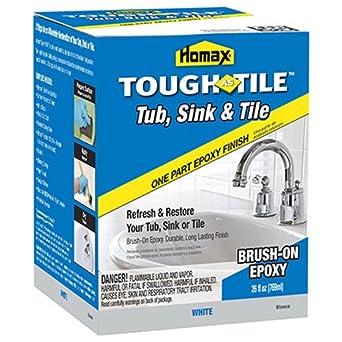 Homax 720773 Tub U0026 Sink Brush On One Part Epoxy, 26 Ounce