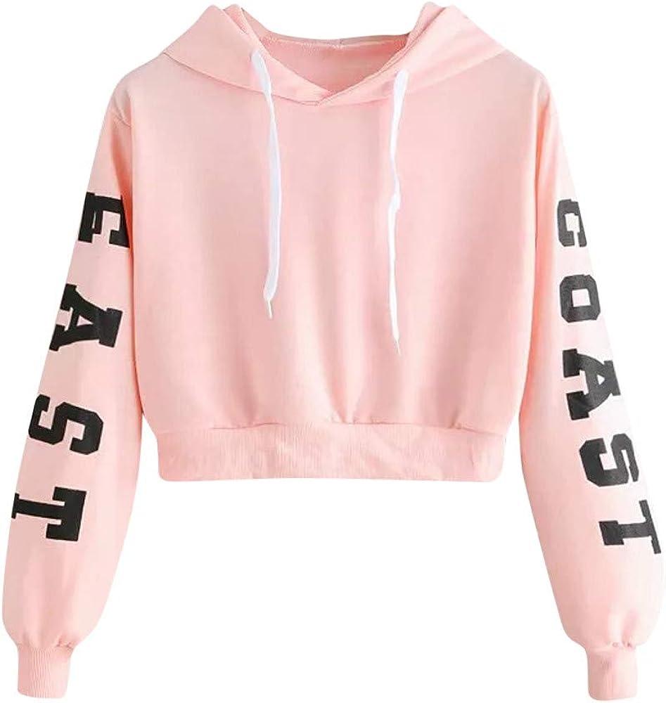 HGWXX7 Womens Sweatshirt Long Sleeve Faux Fur Crop Warm Comfortable Hoodie Pullover Tops Shirt Blouse