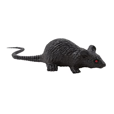 DONGMING Realistic Fake Mouse Prank Toy Decoration Prop Plastic Rats Mouse Model Figures Kids Halloween Tricks Pranks Props Toy Looking Spooky Mice Festival Horror Scary Toys,Small Black: Home & Kitchen