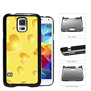 Yellow Cheese Heart Shapes Hard Plastic Snap On Cell Phone Case Samsung Galaxy S5 SM-G900