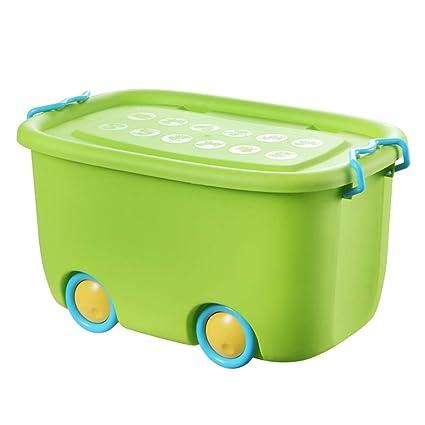 Caja de Almacenamiento de Fruta Verde Plástico Ropa Extra Grande Ahorros Juguetes Acabado de desechos