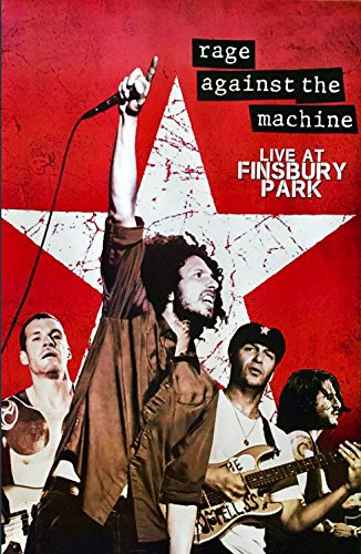 Rage Against The Machine Live At Finsbury Park 2010 Concert Poster Size 24x35 Inch J-0111