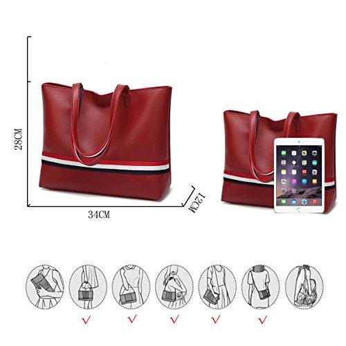 para bolsos de de Bolso señoras las cuero del los monedero suave grande mujeres del las de Rojo Coolives totalizador dIZEqnF7xI