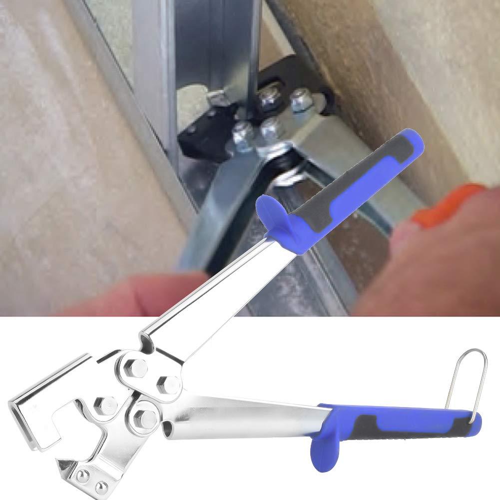 einfach zu tragen und bequem zu bedienen professioneller Kielbolzenverbinder Crimper Tragbarer Griff Stanzzange Stahl-Trockenbau-Handwerkzeug Crimperzange
