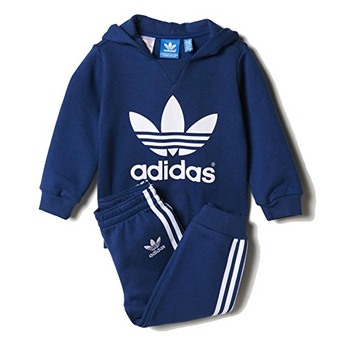 Adidas Originals Infant Trefoil Sweatsuit Oxford Blue/White AB1858 Size 12 Months