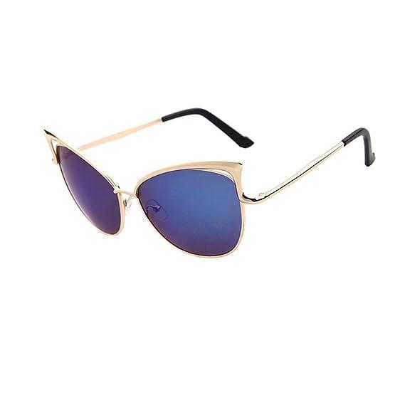 ZODOF Gafas de Sol Lentes Transparentes Gafas Metal ...