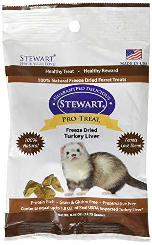 Stewart Pro Turkey Liver Ferret Treats (1 Pack), 0.45 (Pro Treat Liver)