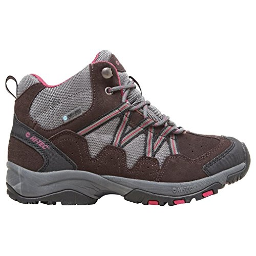 Florence 38 Mid Boot Hi Calzature E Esterno Scarpa In Womens Pelle Marrone Walking tec Grigio Da 4wnqZ