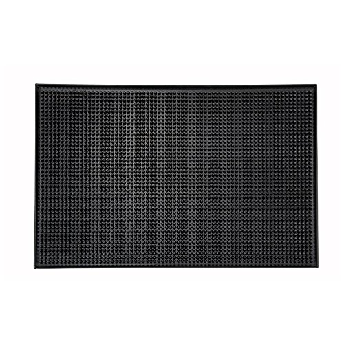 Review Winco BM-1812K, 18x12-Inch Black Service Mat, Plastic Professional Bar Glass By Winco by Winco