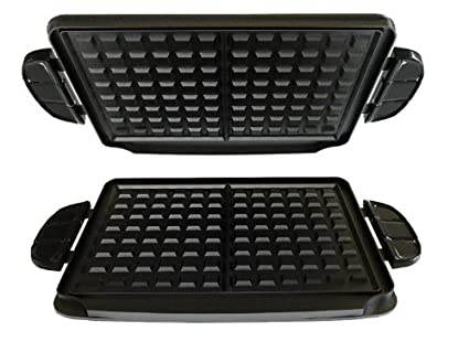 George Foreman gfp84wp Evolve parrilla 84-square (Waffle ...