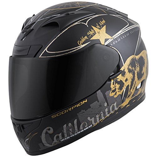 (Scorpion EXO-R710 Golden State Street Motorcycle Helmet (Black, Medium))