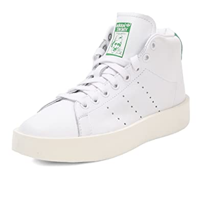 size 40 b6d90 1439f Amazon.com | adidas Women's Stan Smith Bold Mid, 9 B (M) US ...