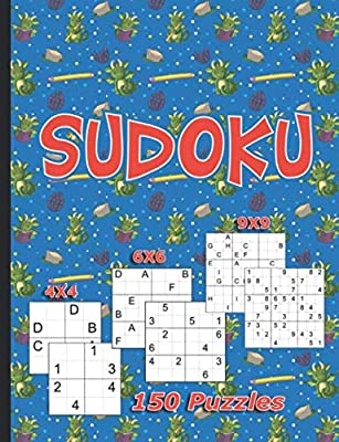 Sudoku for Kids Dragon Puzzle Book: 150 Easy, Medium, and Hard Levels with Numbers or Letters on 4x4, 6x6, and 9x9 Grids (Critical Thinking Skills Vol 1)
