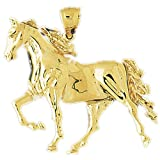 CleverEve 14K Yellow Gold Running Horse Pendant 9.7 Grams