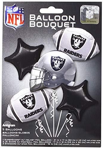 Anagram 31393 Oakland Raiders Balloon Bouquet, Multicolored