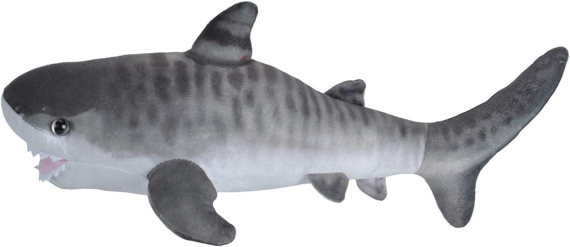 "Wild Republic Tiger Shark Plush, Stuffed Animal, Plush Toy, Gifts for Kids, Living Ocean, 12"""