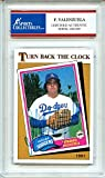 Fernando Valenzuela 1981 Topps Turn Back Clock Los Angeles Dodgers Autographed Signed Trading Card - Certified Authentic