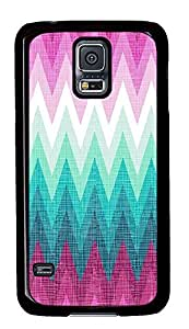 discount Samsung Galaxy S5 covers Blue And Pink Chevrons PC Black Custom Samsung Galaxy S5 Case Cover