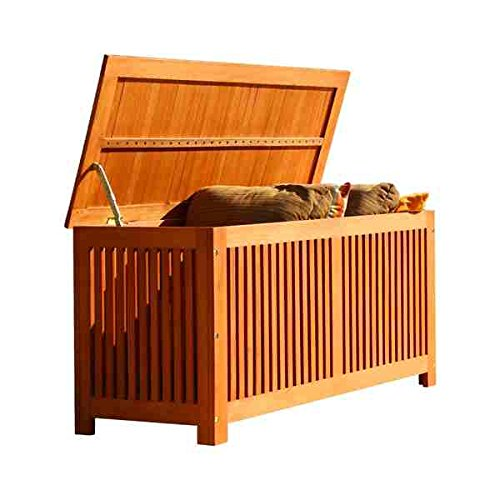 Storage Benches, Storage Box Patio/ Indoor/ Outdoor Traditional Design Tan Weather-Resistant Premium Grade Shorea Wood Construction by Unknown