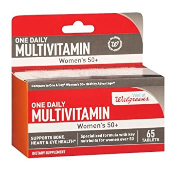 Walgreens One Daily Multivitamins Womens 50+, 65 ct (Pack of ...