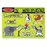 Melissa & Doug Zoo Animals Sound Puzzle - Wooden Peg Puzzle With Sound Effects (8 pcs)