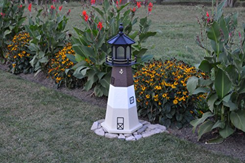 Lighthouse Historic Lamp (Wooded Replica USA Lighthouses-3 Foot-Oak Island, N.C.)