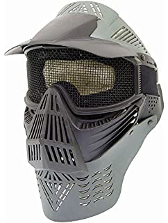 PForce Paintball/Airsoft Adjustable Full Face Tactical Safety Mask with Metal Mesh Wire Eye Protection