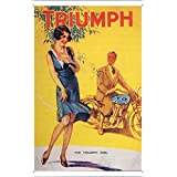 Tin Sign Motorcycle Bike Poster Metal Plate Wall Decor by Jake Box 20*30cm of The Triumph Girl