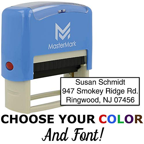 (Custom Stamp - Self-Inking Stamp (3 Line Stamp))