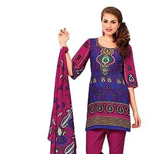 Triveni Floral motif printed Cotton Salwar Kameez 108