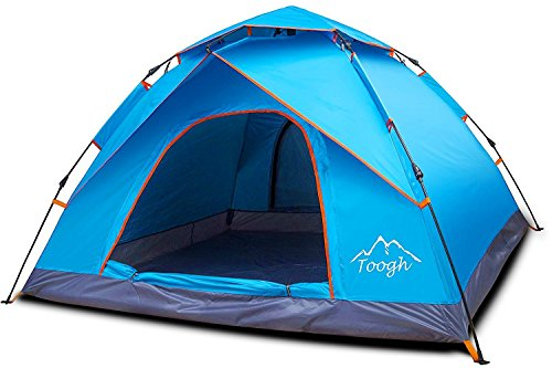 Toogh 3-4 Person Camping Tent 4 Seasons Waterproof Backpack Tents Sun Dome...