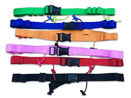 Planet Funky! Triathlon Race Number Belt Reflective With Gel Holders Easy Clasp (Gel Tri Pack)