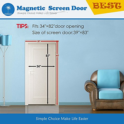 Grand Oasis Magnetic Screen Door Keep Bugs Out Lets