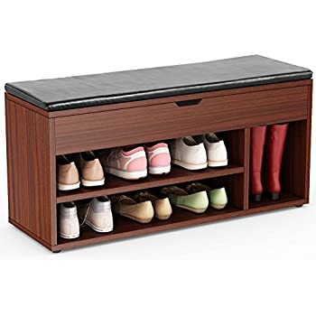 Beautiful Tribesigns Shoe Storage Bench Upholstered Shoe Rack Hall Bench For  Entryway, Hallway, Bedroom (
