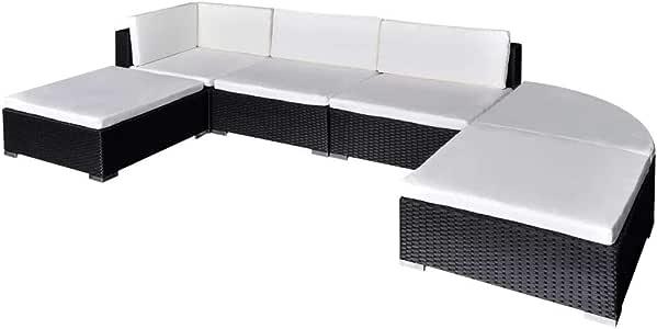 Tidyard Conjunto Muebles de Jardín 16 Piezas,Sofa Exterior para ...