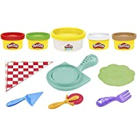 Play-Doh Kitchen Creations Cheesy Pizza Playset for Kids 3 Years and Up with Play-Doh Elastix Compound and 4 Classic…