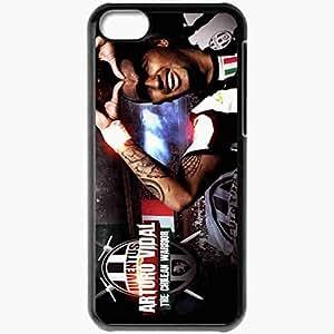 Personalized iPhone 5C Cell phone Case/Cover Skin 2013 original arturo vidal juventus Black